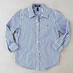 Lauren Ralph Lauren Women's Striped Shirt Small